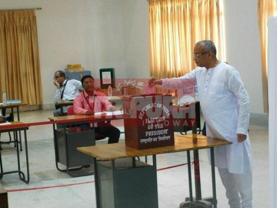 Kovind Vs. Meira : 60 MLAs cast vote in Tripura