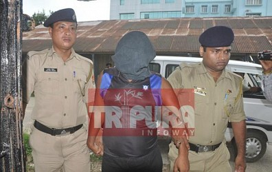 Santanu murder's 3rd accuse Sachin Debbbarma produced before the court. TIWN Pic Sep 24