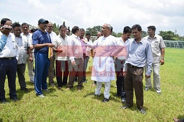 Sports Minister visits Umakanta Stadium. TIWN Pic July 27