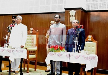 Subal Baidya takes oath as new Lokayukta. TIWN Pic April 27