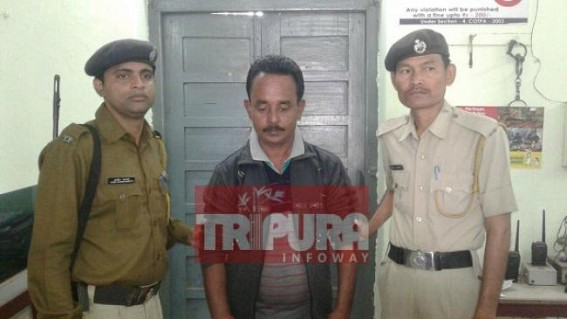 West Agartala Police arrest one Mafia