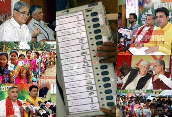8 months before Tripura's most crucial Assembly Election after 25 yrs of Communist regime : ruling, opposition parties battling with EVMs