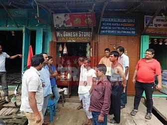 Shop looted a Gol Bazar. TIWN Pic July 24