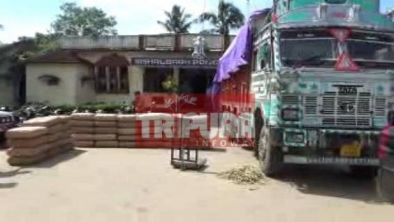 Sepahijala Dist turns Narcotic Den under patronage of CPI-M : Rs. 30 lakhs Ganja of 1100 Kgs recovered,  What's Manik  Govt's weakness for  strict action against Narcotics smugglers ?