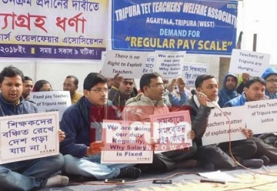 Tripura TET Qualified teachers striving to get regular basis salaries