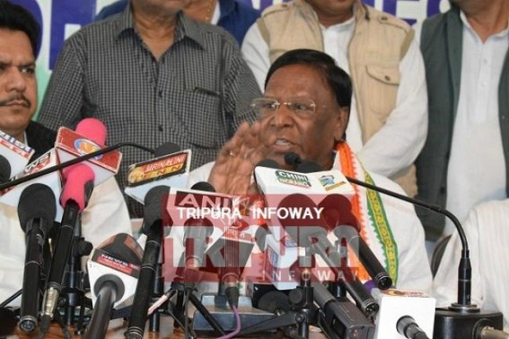 Puducherry CM releases Tripura Congress's Election Manifesto : Promises 7th Pay Commission and many more bonanzas including allowances for Unemployed youths, returning Chit Fund depositors' moneys