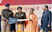 Adityanath flags off 100 motorcycles for 'UP-100' service