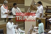 Face-off  in Tripura Assembly after Finance Minister uttered 'Vote on account'