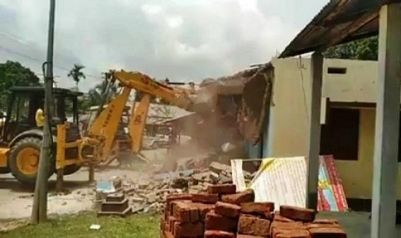 Party Offices Bulldozing drive continues in BJP ruled Tripura : CPI-M, Congress fuming