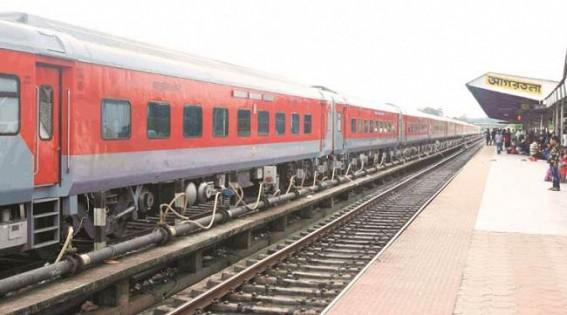 Train services halts in Tripura, Assam