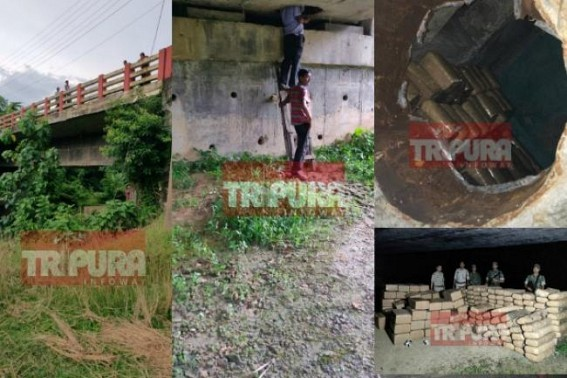 Tripura's massive Narcotics Smuggling : Law enforcement unearths Rs 50 Lakhs Marijuana hidden under Jirania Bridge, Drug overhauls expose Hundreds of crores International Drug Mafia operations across Indo-Bangla-Myanmar corridor