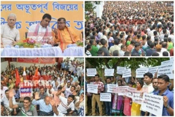 7th CPC Mass Cheating : Statewide Employees erupt in resentments in Social Media, calls 'BATPAR' Party, JUMLA cheaters fooled Tripura, 0.32 Factor meagre Pay Hike ahead Durga Puja, no DA worst in Tripura's history