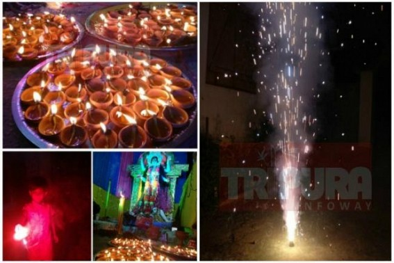 Tripura celebrates Diwali with fervour : Houses decorated with candles, lamps on auspicious Diwali evening, fire crackers burnt Statewide