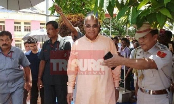Governor feels Tripura abode of peace(?), people are positive