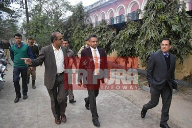 Dy Election Commissioner Sudeep Jain visiting Tripura. TIWN Pic Jan 18