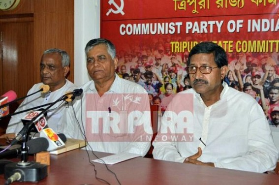 CPI-M's damage control press meet : 'BJP kept arms inside CITU office' , says Gautam Das
