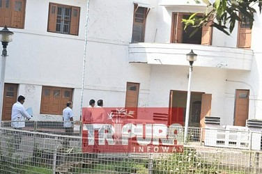 CBI enters MLA hostel at 2.45 pm to interrogate CPI-M Ex-Minister MLA Bijita Nath. TIWN Pic April 25