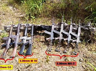 Assam Rifles seizes weapons at Mizoram. TIWN Pic Aug 17