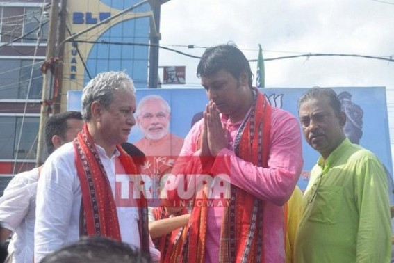 Sunil Deodhar, Jishnu Debbarman's hard work behind Agartala Airport's renaming : Deputy CM joins in Airport renaming celebration