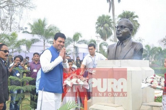 Amid attacks upon 'Democracy', Tripura pays tribute to the 'Father of Constitution'
