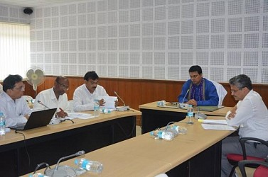 CM reviewed the progress of various works being undertaken by Agriculture Dept. at Civil Secretariat . TIWN Pic July 17