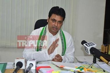 CM addressing media at Secretariat. TIWN Pic June 19