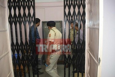 Theft attempt at Chandrapur UBI Bank, Agartala. TIWN Pic July 17