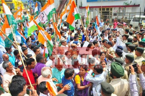 350 Congressmen arrested in Tripura for holding rally