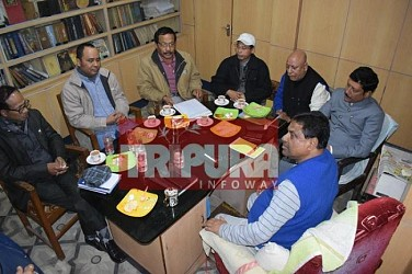 Congress, INPT, Trinamool, NCT, IPFT-Part 2 sat in meeting at Gopal Roy's residence. TIWN Pic Jan 19