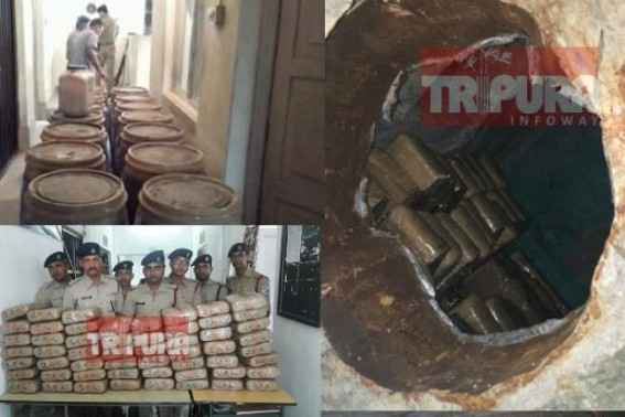 Ganja Seizing continues : Ganja worths Rs. 50 lakhs at Jirania, Rs. 10 lakhs at Agartala Railway Station, Rs. 8 lakhs at Melaghar seized on Thursday