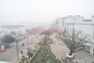 Foggy day at Agartala. TIWN Pic Jan 18