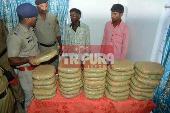 Police arrests two from Tripura Sundari Express in Ganja-smuggling racket