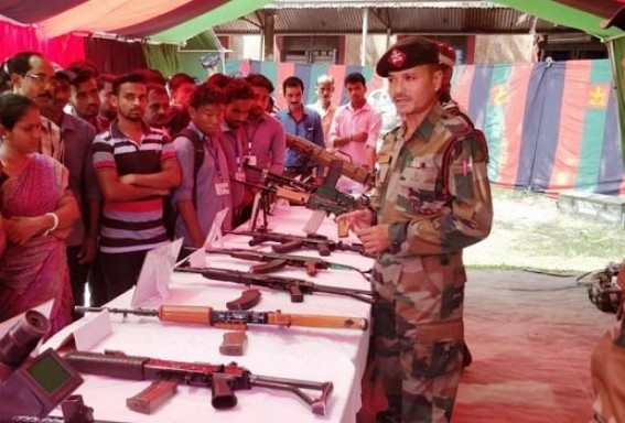Motivational Lecture & Weapon Display by Assam Rifles