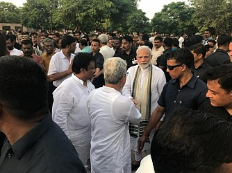 CM, Deputy CM remained present at Smriti Sthal during last rites former PM Atal Bihari Vajpayee. TIWN Pic Aug 17