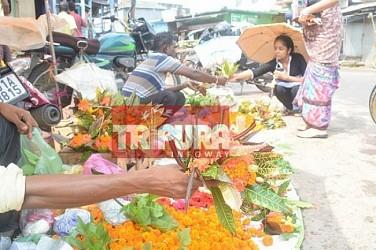Jamai Shashti preparation on peak at Agartala. TIWN Pic June 18