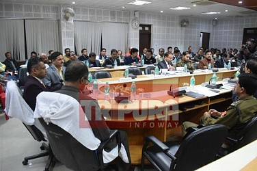 Deputy Election Commissioner held meeting with Tripura Polling Officers at West DM Office. TIWN Pic Jan 18