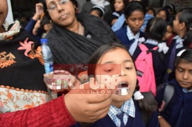 National Deworming Day observed in Tulsibati School. TIWN Pic Jan 18