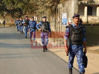 Security tightened at Agartala. TIWN Pic Jan 19