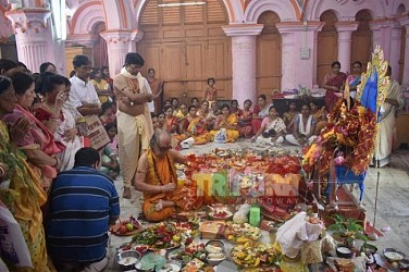 Manasa Puja observed at Agartala Durga Bari. TIWN Pic Aug 17
