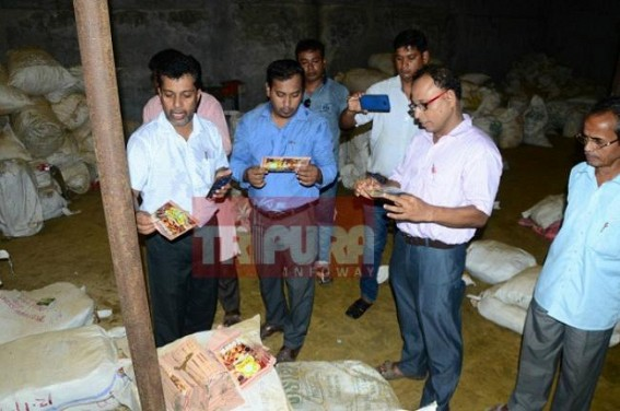 Factory making duplicate masala (spices) sealed by Food Dept