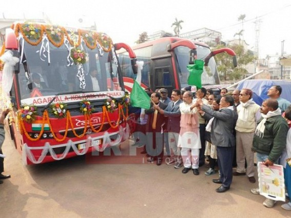 Tripura gets new Agartala-Kolkata via Dhaka Volvo bus