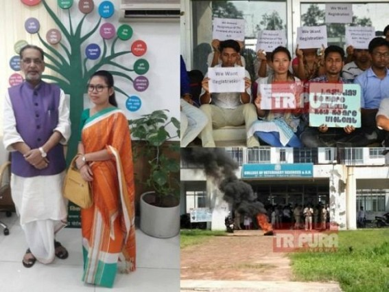 Veterinary students, TIWN's joint struggle succeeded : After 9 yrs of establishment Tripura Veterinary College finally recognized under VCI with Minister Santana Chakma's bold initiative