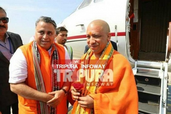 Yogi arrives in Communist ruled Tripura