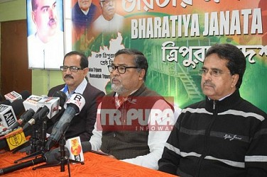 BJP held press meet at Krishnanagar Office. TIWN Pic Jan 19