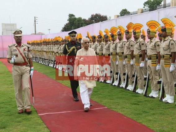 West Bengal Governor Keshari Nath Tripathi arrives in Tripura to take additional charge as Governor