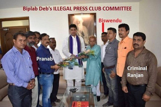 Court terminated Agartala Press Club's Illegal occupiers : Pranab Sarkar Gang's (Biplab's Media Mafia) Illegal 'No Contest' Election dismissed, banned from operating Press Club Funds, Old Elected committee to take charge from Friday