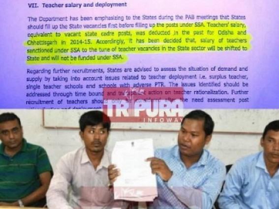 SSA's Regularization : Tapan accuses central led fund-deprivation, CM rejects to meet SSAs four times : SSA teachers to go in massive protest within 1 week
