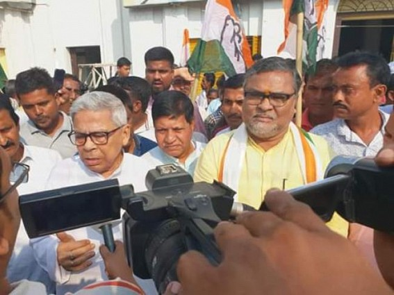 Congress placed demand for Total Repoll in West Tripura constituency at ECI (Delhi), State Congress protests against BJP's violence