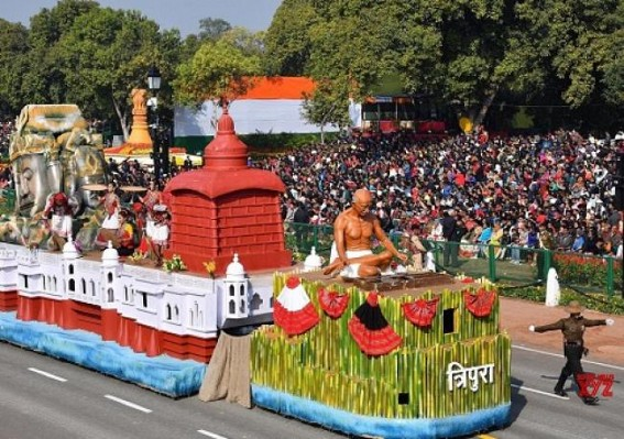 Tripura Tableau on Republic Day at Rajpath wins first prize
