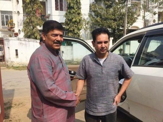 BJP Minister Sudip Barman meets Congress leader Pradyot Manikya